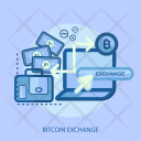 Bitcoin Exchange Bag Icon