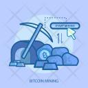 Bitcoin Mining Cursor Icon