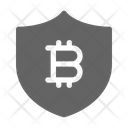 Bitcoin Cryptocurrency Shield Icon