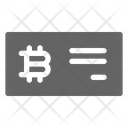Bitcoin Check Cryptocurrency Icon