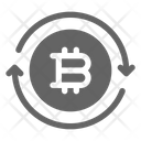 Bitcoin Transfer Transaction Icon