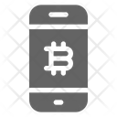 Bitcoin Smartphone Cryptocurrency Icon