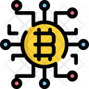 Digital Bitcoin Icon