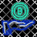 Hand Bitcoin Bitcoin Crypto Icon