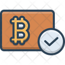 Bitcoin Accepted Crypto Currency Icon