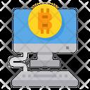 Bitcoin Computer Business Icon