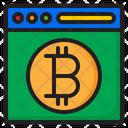Bitcoin Scale Money Icon