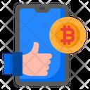 Bitcoin Social Media Money Icon