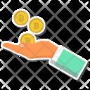 Bitcoin Bitcoins Hand Icon