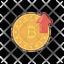 Bitcoin Upload Crypto Icon