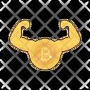 Bitcoin Success Crypto Icon