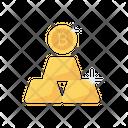 Bitcoin Gold Ingot Icon