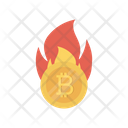 Bitcoin Flame Currency Icon