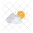 Bitcoin Cloud Cryptocurrency Icon