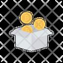 Bitcoin Box Saving Icon