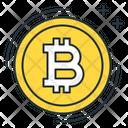Bitcoin Blockchain Digital Icon