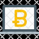 Bitcoin Laptop Icon