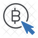 Online Bitcoin Cursor Icon