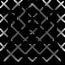 Laptop Blockchain Bitcoin Icon