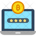 Bitcoin Cryptocurrency Transaction Laptop Icon