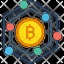 Bitcoin Bitcoin Network Blockchain Icon