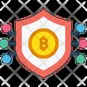 Bitcoin Encrypted Security Icon