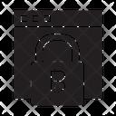 Blockchain Key Bitcoin Icon