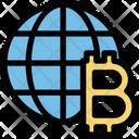 Bitcoin Global Blockchain Icon