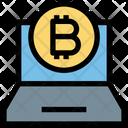 Bitcoin Laptop Blockchain Icon