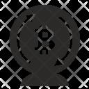 Bitcoin Money Value Icon