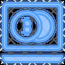 Bitcoin Notebook Bank Icon
