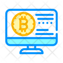 Bitcoin Electronic Currency Icon