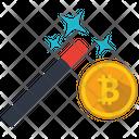 Bitcoin Wizard Money Icon