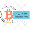 Bitcoin Accepted Here Icon