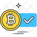 Bitcoin Coin Success Icon