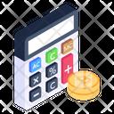 Bitcoin Calculations Bitcoin Accounting Blockchain Accounting Icon