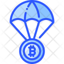 Airdrop Bitcoin Currency Icon