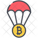 Airdrop Balloon Bitcoin Icon