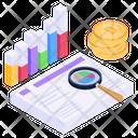 Finance Analysis Bitcoin Analysis Crypto Analysis Icon