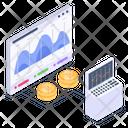 Bitcoin Chart Bitcoin Graph Bitcoin Analysis Icon