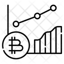 Bitcoin Analysis Bitcoin Graph Cryptocurrency Icon