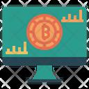 Bitcoin Analysis Computer Screen Icon