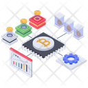 Bitcoin Analytics Digital Money Blockchain Icon