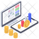 Bitcoin Analytics Business Analytics Online Business Icon