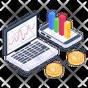 Bitcoin Chart Bitcoin Analytics Bitcoin Analysis Icon