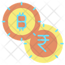 Rupees Bitcoin Bitcoin And Rupees Rupee Icon