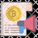 Bitcoin Announcement Icon