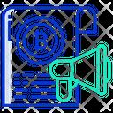 Bitcoin Announcement Bitcoin Marketing Marketing Icon