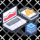 Business App Bitcoin App Bitcoin Analytics Icon