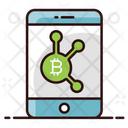Bitcoin Application Bitcoin Mobile Banking Online Cryptocurrency Icon
